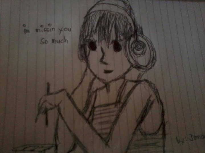 Jonalyn Saringan, mising, drawing, sad