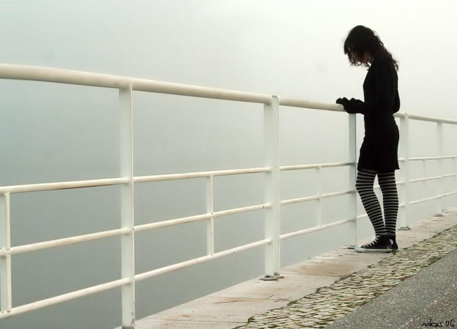 girl, alone, suffering