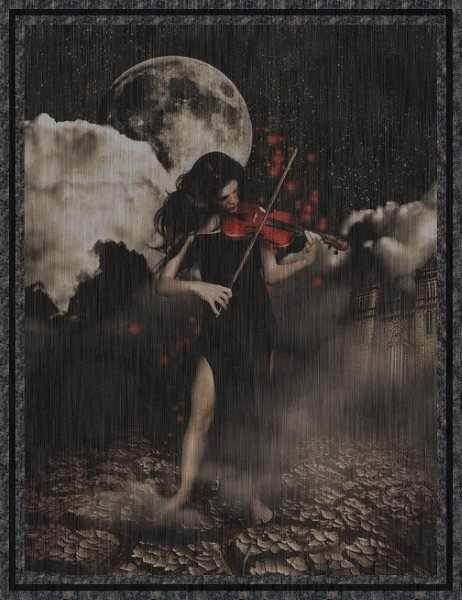 jessica lynn hepner,dark,violin,sad,girl,rain,alone,pain,sadness