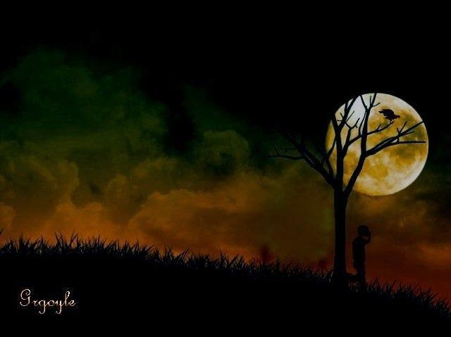sad,dark,raven