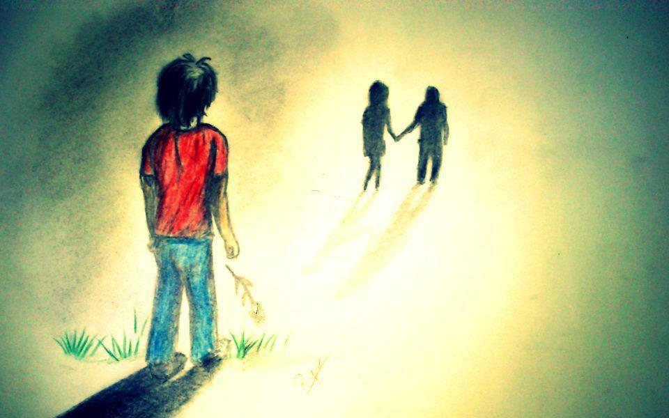 rose, raining, rejection, recluse, dark, sadness, sad, sad girl, sad boy, death, depressed, forest, fallen angel