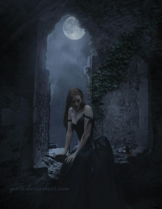alone,girl,moon,hurt