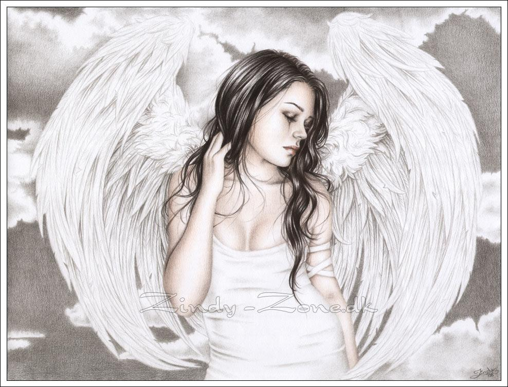 depressed angel drawings - photo #31
