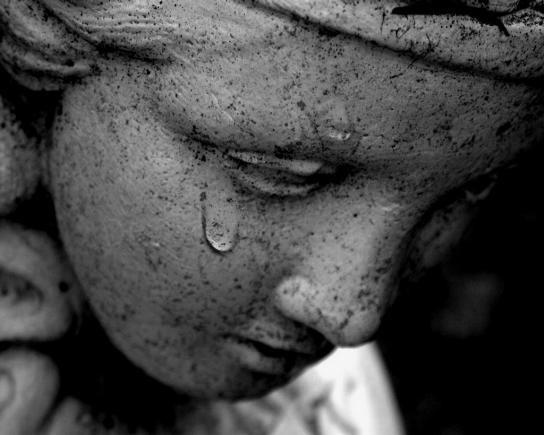 angel,crying,statue