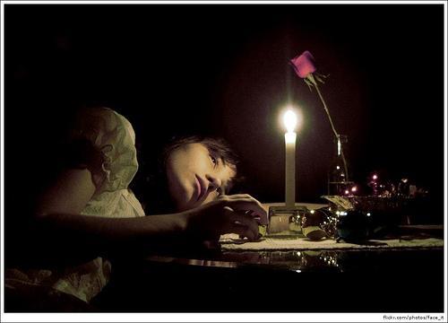upset, candle, girl
