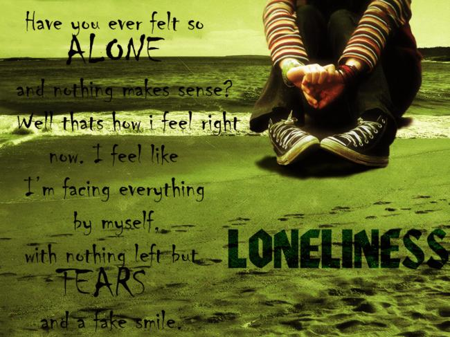 Lonely Poster - Jackie  Sad Picture  Lover of Sadness