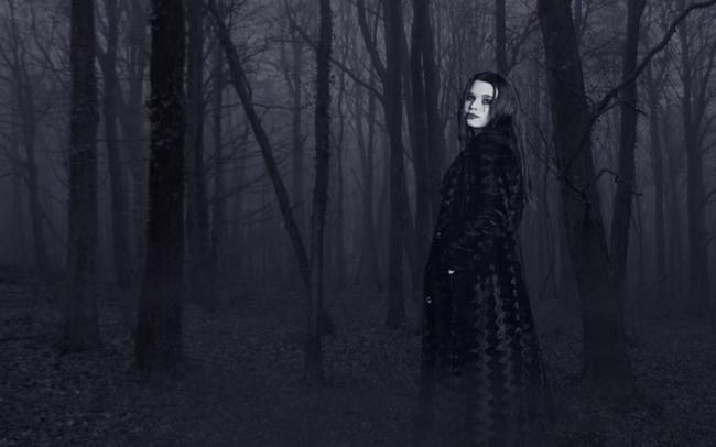 sad, girl, forest, gothic, creepy