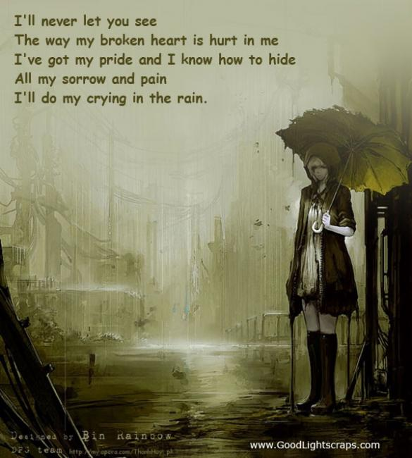 weeping, alone, raining, gloomy, dark