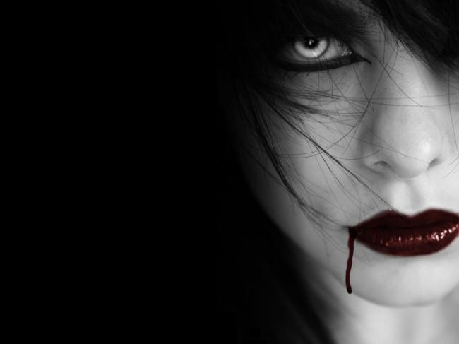 blood,creepy,dark,girl