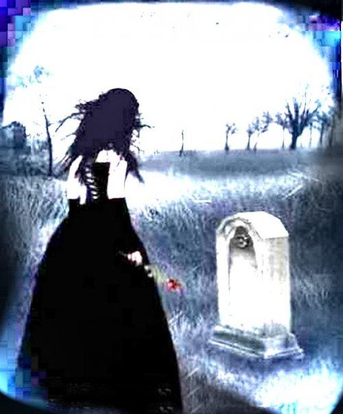 death, gothic, love, rose, grave