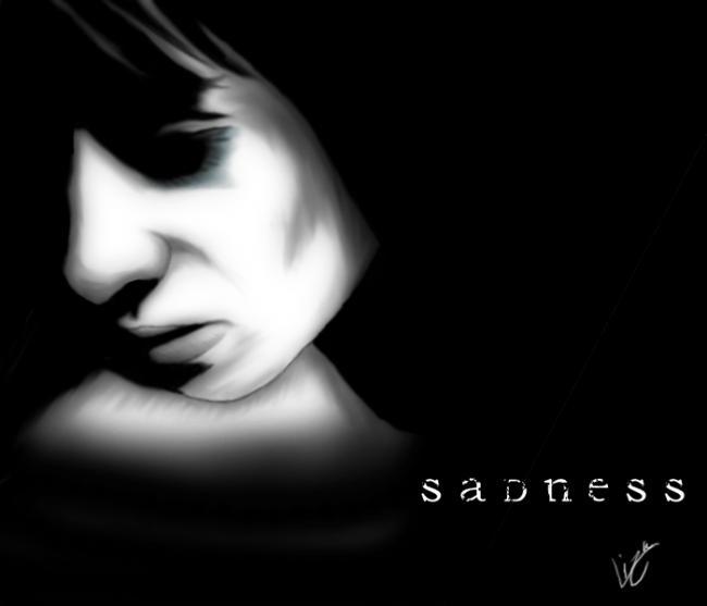 sadness, girl, pain