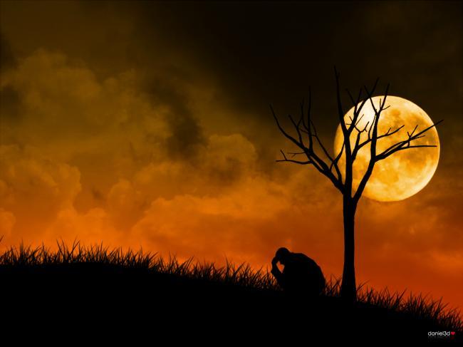 moon,boy,sadness,sad