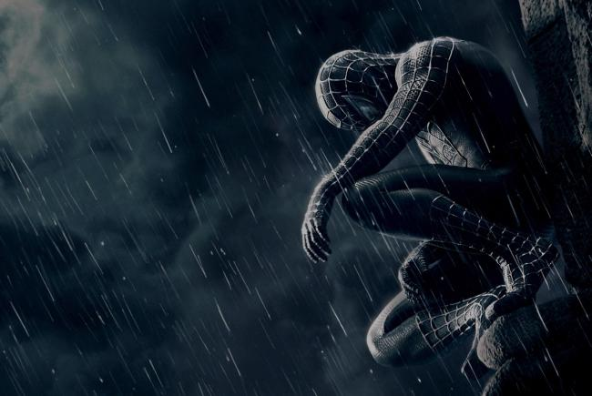 spiderman,sad,lonely,gloomy