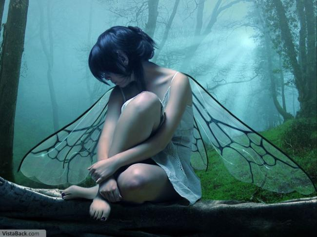 angel,forest,beauty,girl