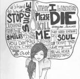 sad, death, depressed, hurt, hate, harm, art, girl